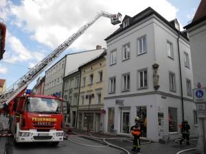 Ausgedehnter Dachstuhlbrand in der Altstadt