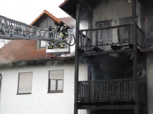 Brand eines Wohnhauses Am Lohmühlbach