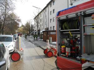 Brandausbreitung gerade noch verhindert