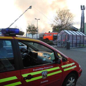 Großbrand in Supermarkt